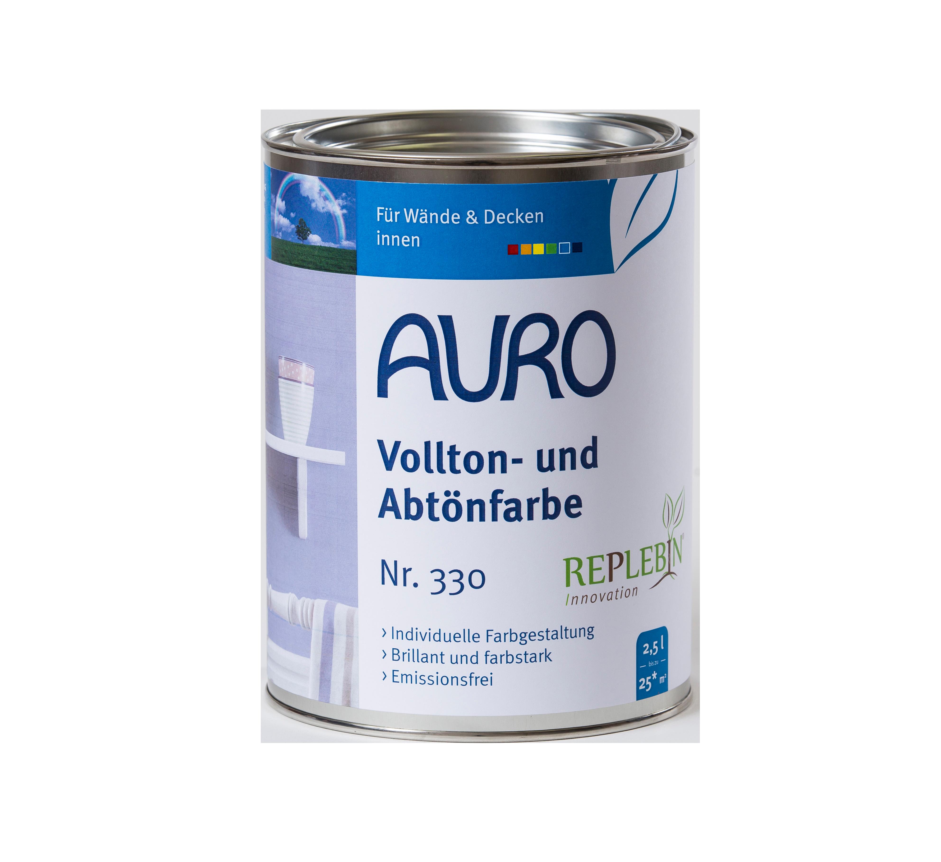 AURO Vollton- und Abtönfarbe Nr. 330 - 2,5 L