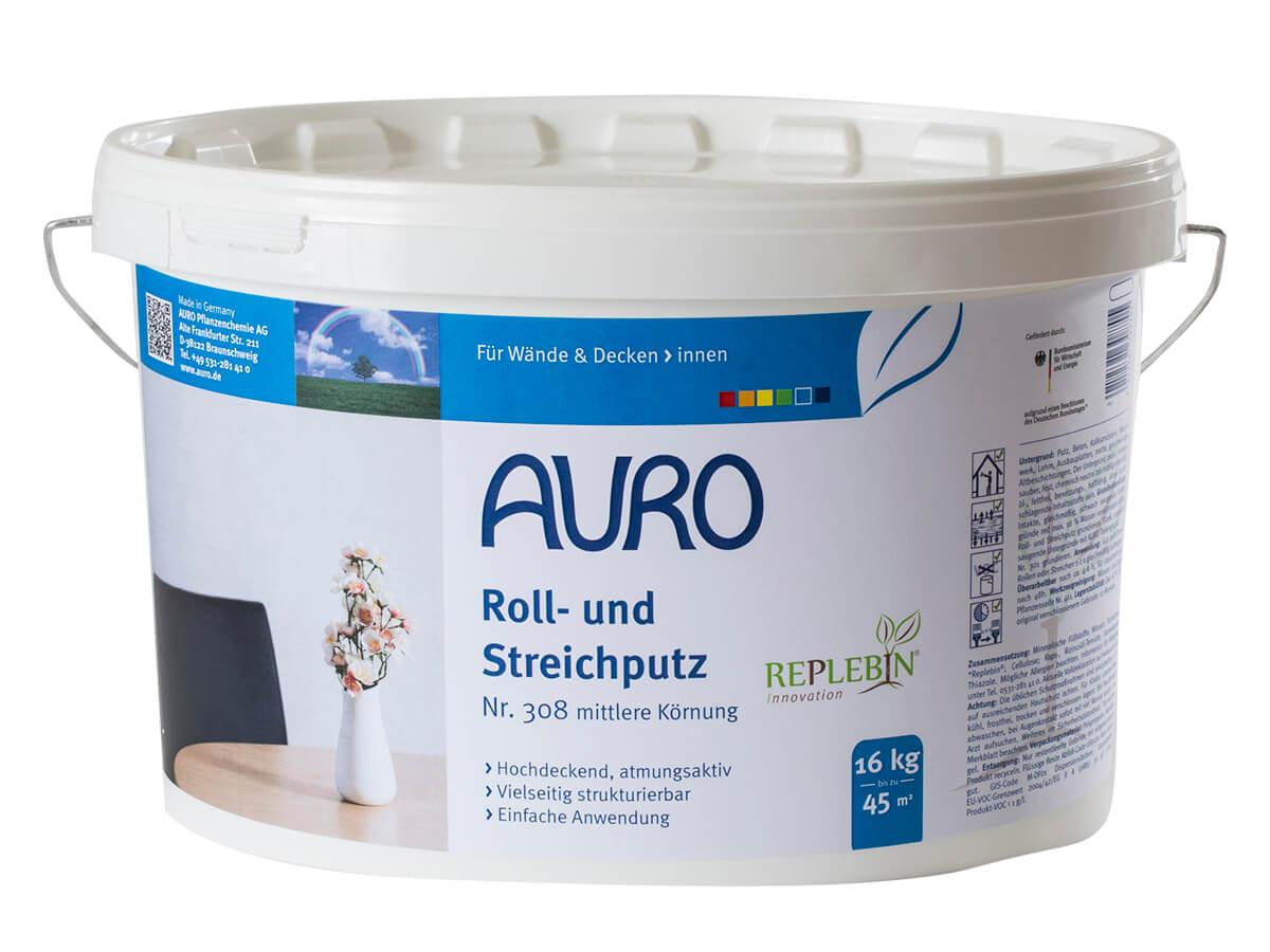 AURO Roll- und Streichputz mittlere Körnung 308 - 16 kg