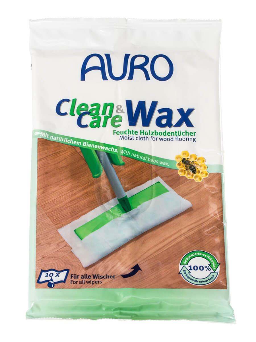 AURO Clean & Care Wax - Feuchte Holzbodentücher Nr. 680