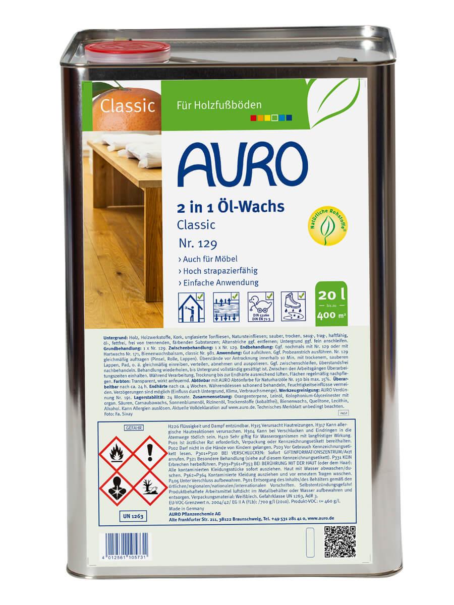 AURO 2 in 1 Öl-Wachs Classic Nr. 129